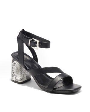 Sandales À Talons Femme - Sandale Talon Decrochee Noir Jina - W-5750-12