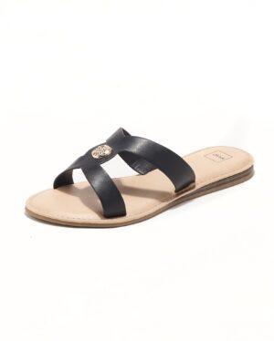 Mules Femme - Mule Plate Noir Jina - Fs072661