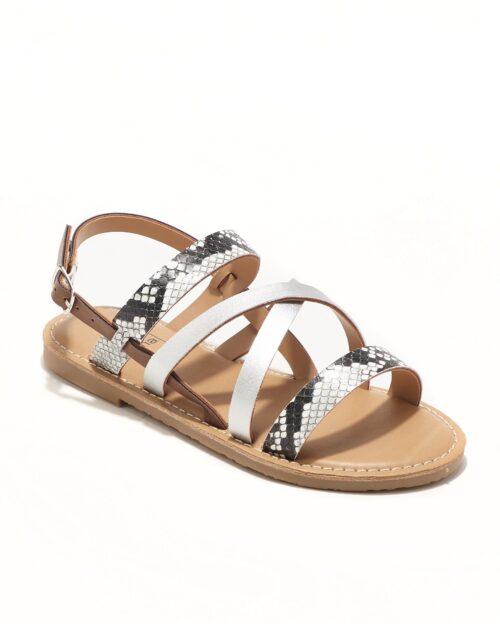 Sandales Fille - Sandale Ouverte Python Noir Jina - Ydxls23j-2 Jf