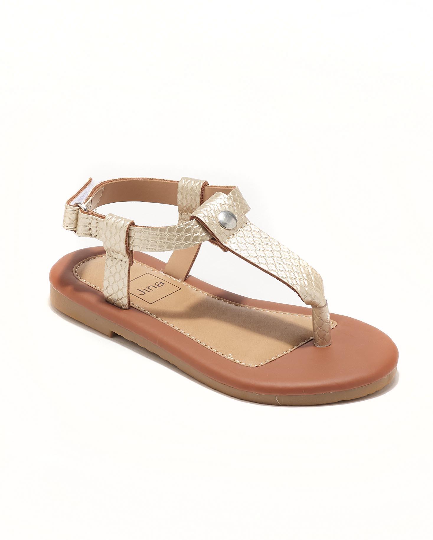 Sandales Fille - Sandale Ouverte Or Jina - Ydxls23j-3