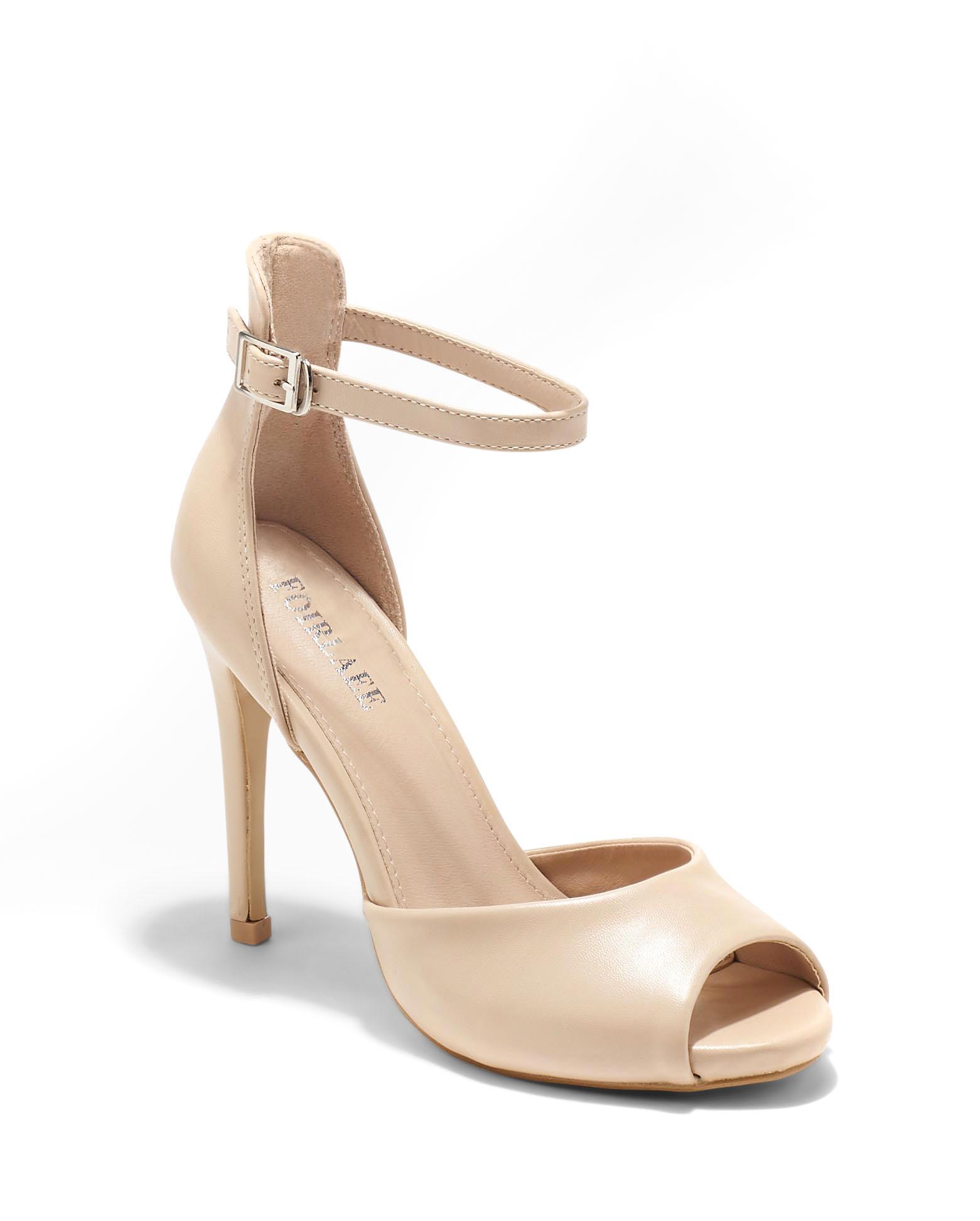 Sandales À Talons Femme - Sandale Talon Decrochee Beige Jina - 66244-1