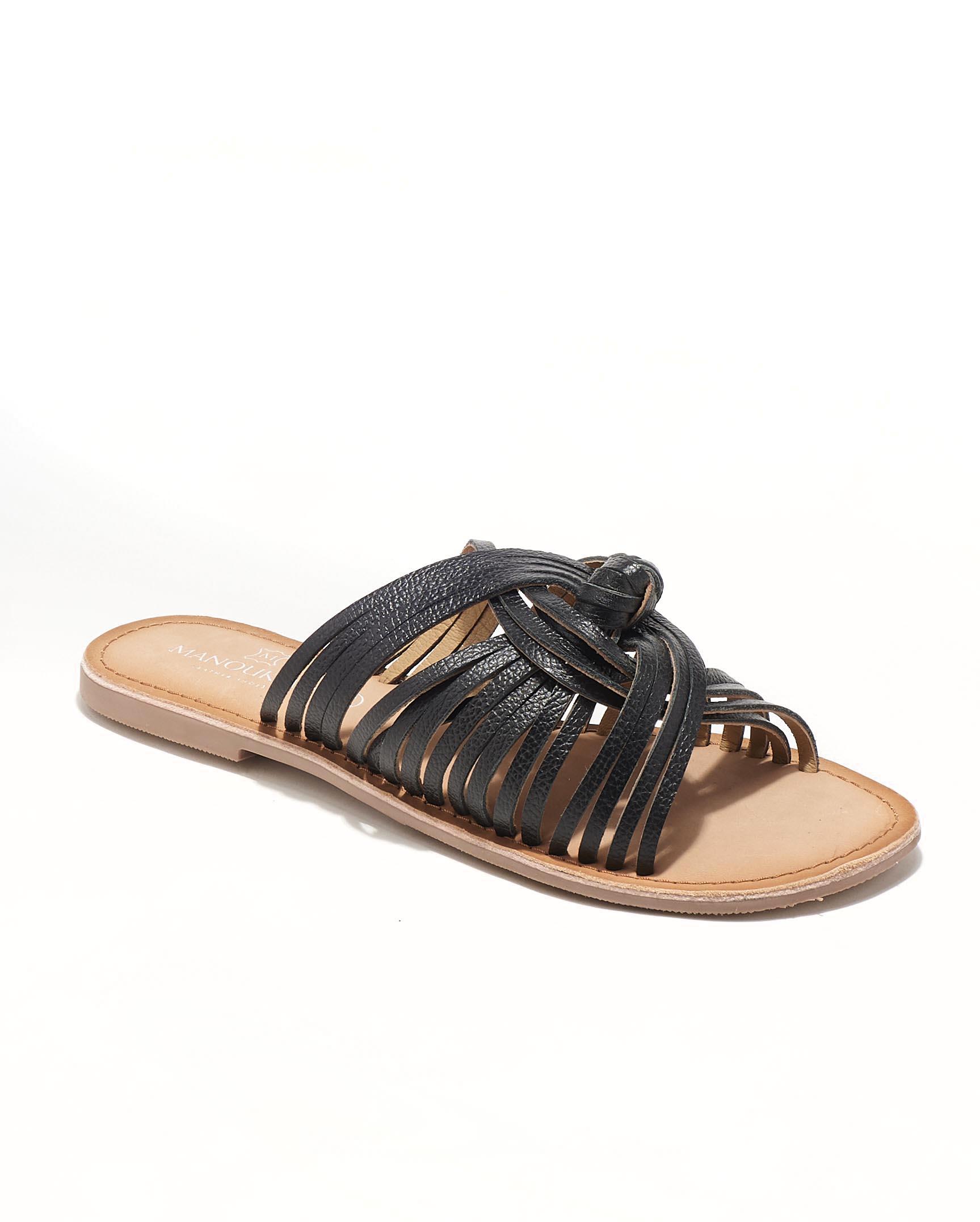 Mules Femme - Mule Plate Noir Jina - Kassidy