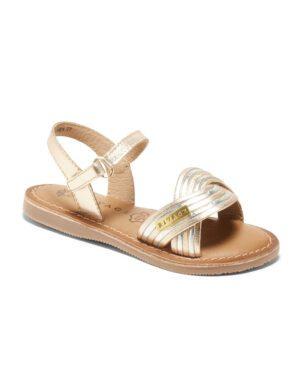Sandales Fille - Sandale Ouverte Or Multi Jina - E-020807