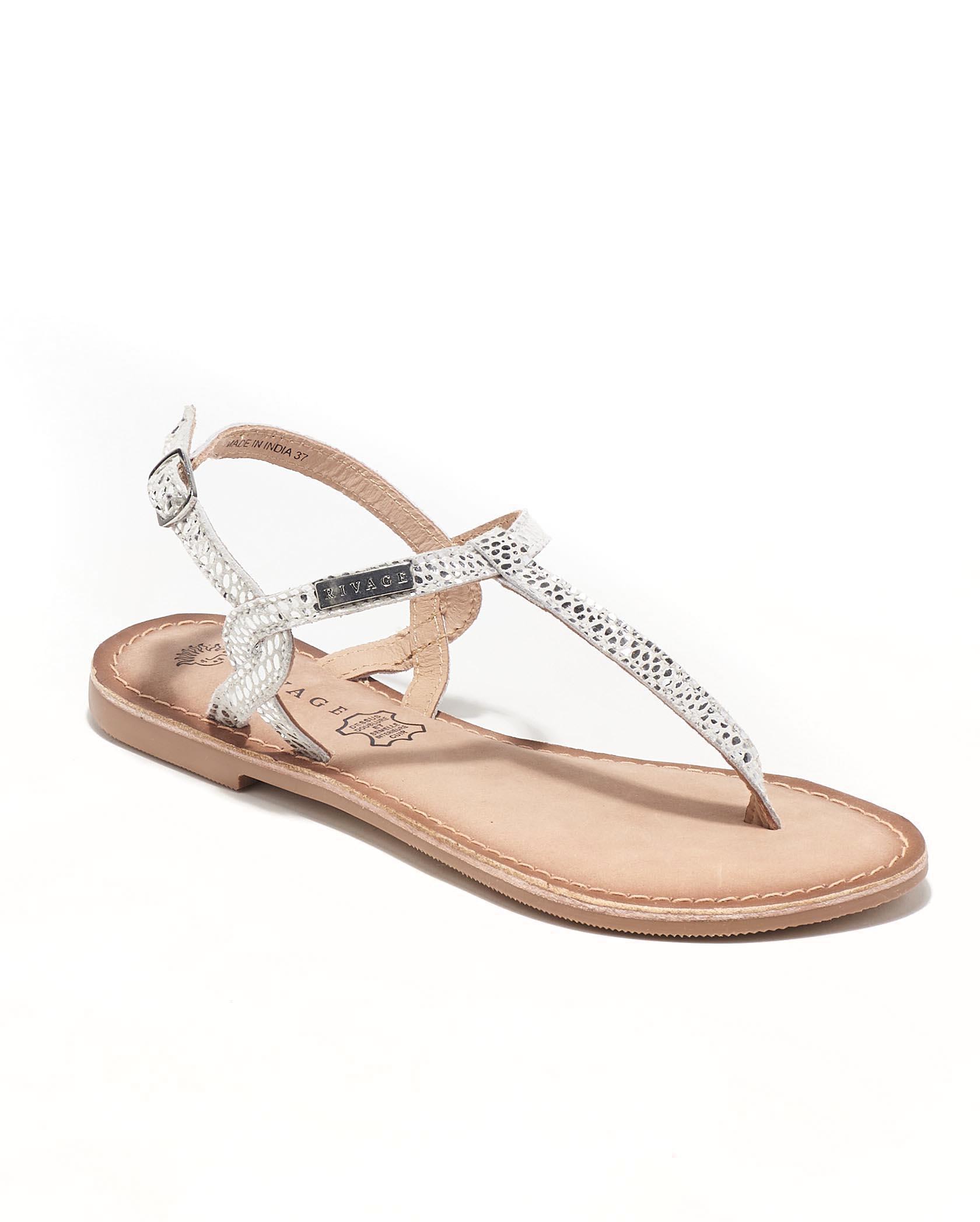 Sandales Plates Femme - Sandale Plate Argent Jina - E-020611