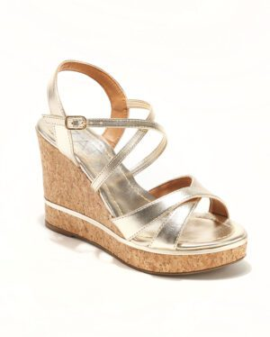 Sandales Compensées Femme - Sandale Talon Compensee Or Jina - Z3697-19753 06