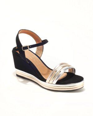 Sandales Compensées Femme - Sandale Talon Compensee Noir Jina - Z3483-19070 01