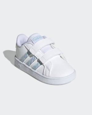 Baskets Fille - Basket Blanc Adidas - Grand Court Gw4855 Ef