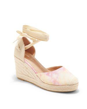 Sandales Compensées Femme - Sandale Talon Compensee Tie Dye Jina - Js3303-1