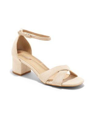 Sandales À Talons Femme - Sandale Talon Decrochee Nude Jina - 8832