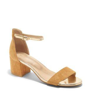 Sandales À Talons Femme - Sandale Talon Decrochee Camel Jina - J8717