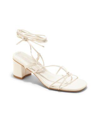 Sandales À Talons Femme - Sandale Talon Decrochee Blanc Jina - 6737