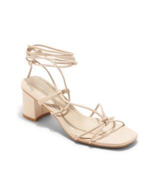 Sandales À Talons Femme - Sandale Talon Decrochee Nude Jina - 6737