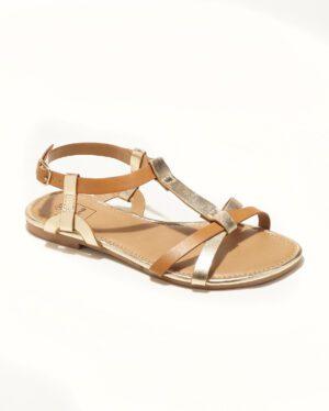 Sandales Plates Femme - Sandale Plate Camel Jina - G52100-02