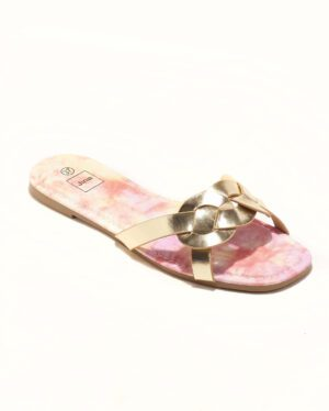 Mules Femme - Mule Plate Or Jina - P11 Zh Style 3