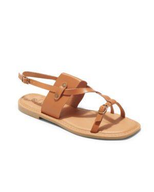 Sandales Plates Femme - Sandale Plate Camel Jina - P11 Zh Style 5