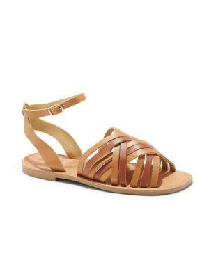 Sandales Plates Femme - Sandale Plate Camel Jina - P11 Zh Style 6