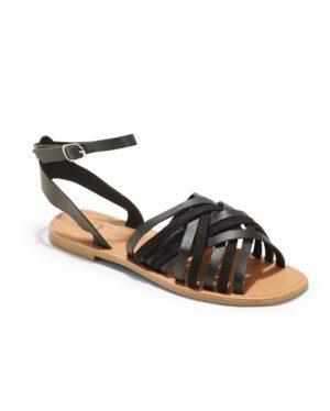 Sandales Plates Femme - Sandale Plate Noir Jina - P11 Zh Style 6