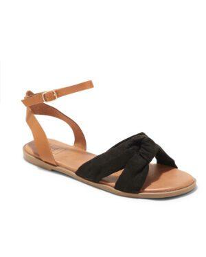 Sandales Plates Femme - Sandale Plate Noir Jina - P11 Zh Style 7
