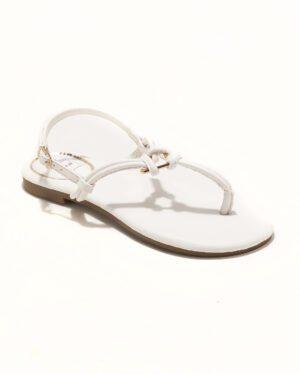 Sandales Plates Femme - Sandale Plate Blanc Jina - P11 Zh Style 8